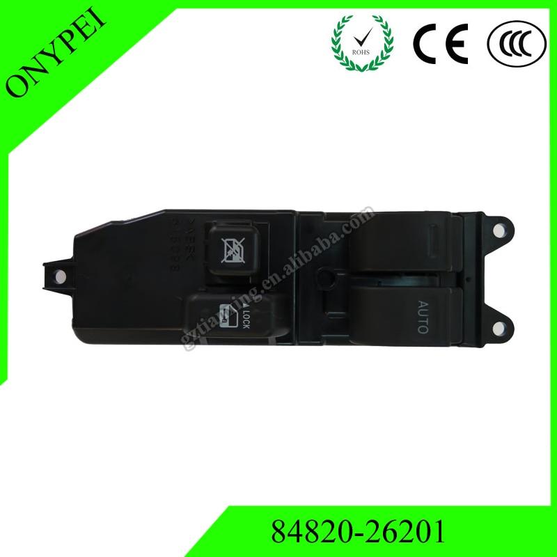84820 26201 Power Window Lifter Regulator Master Control Switch For Toyota Hiace 2006 2013 KDH20# TRH20# 8482026201