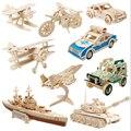 3D Деревянные Головоломки для Детей и Взрослых Автомобиля Головоломки Деревянные Игрушки для Обучения и Окружающей Среды Сборки Игрушки Развивающие Игры