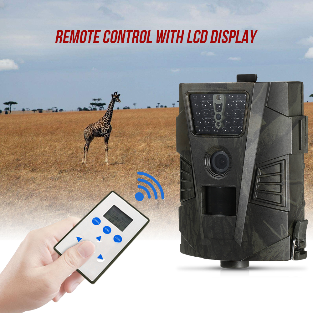 HT 001 Wildlife Hunting Camera 940nm 8MP 720P GPRS Trail Camera Night Vision Cameras Scouting Camera with LCD Remote Control-in Hunting Cameras from Sports & Entertainment    1