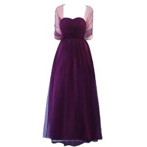 Image 5 - Bruidsmeisje Jurken Elegante Lange Wedding Party Dress Plus Size Royal Prom Zus Gast Bruidsmeisje Jurk Tule Robe Soiree 960