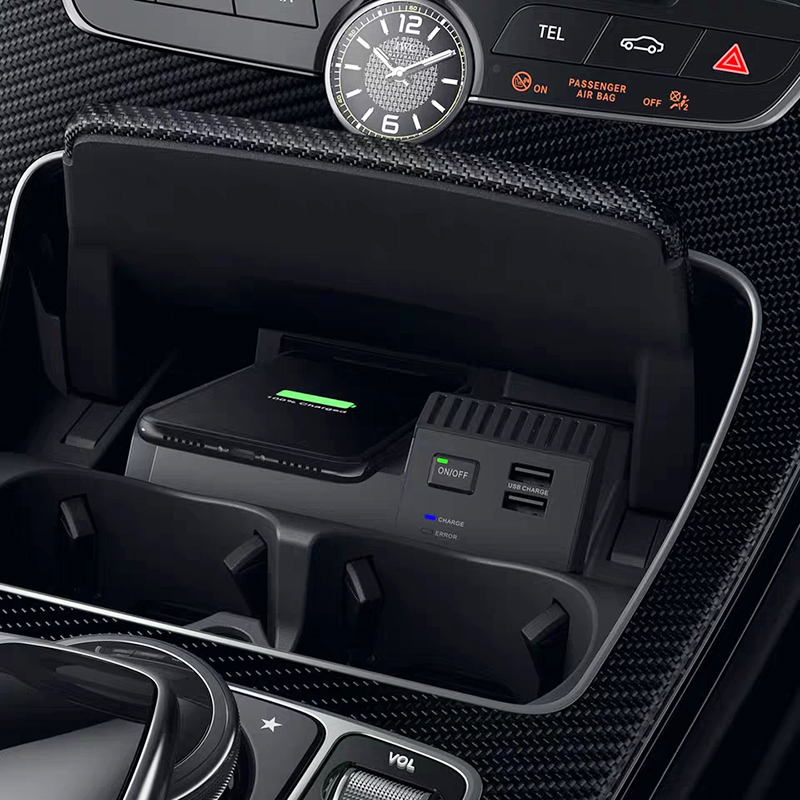 For Mercedes Benz W205 C180 C43 C63 AMG GLC C Class QI Wireless Charging Phone Charger Charging Case Accessories For IPhone 8 X