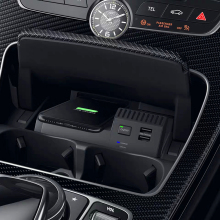 Для Mercedes Benz W205 C180 AMG C43 C63 GLC C Класс QI Беспроводное зарядное устройство для телефона чехол для зарядки аксессуары для iPhone 8 X