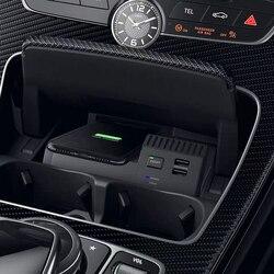 Für Mercedes Benz W205 C180 AMG C43 C63 GLC C Klasse QI wireless charging handy-ladegerät lade fall zubehör für iPhone 8 X