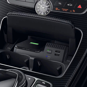 Image 1 - For Mercedes Benz W205 AMG C43 C63 GLC43 GLC63 X253 C Class 10W QI wireless charging phone charger charging case accessories