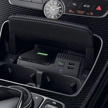 Для Mercedes Benz W205 AMG C43 C63 GLC43 GLC63 X253 C класс 10 Вт QI Беспроводное зарядное устройство для телефона зарядный чехол Аксессуары