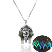 European Fashion Restore Ancient Ways Necklace Man Egypt Fa Lao Sphinx Pendeloque Cut Foreign Trade Supply Of Goods SHL240 shoul