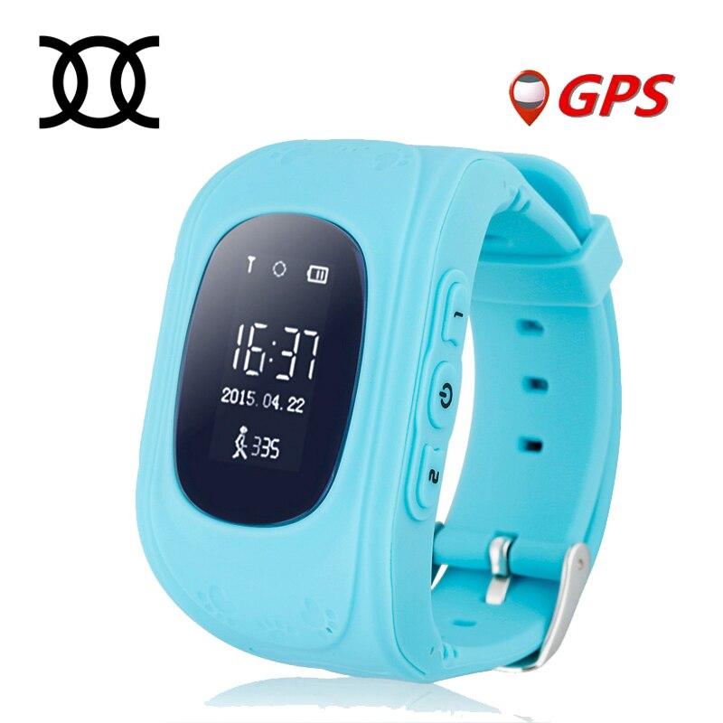 imágenes para TWOX Smart Kid Safe Llamada SOS Localizador GPS Reloj de Pulsera Monitor de localizador Del Perseguidor Para El Cabrito Del Niño Perdido Anti Bebé Regalo Q50
