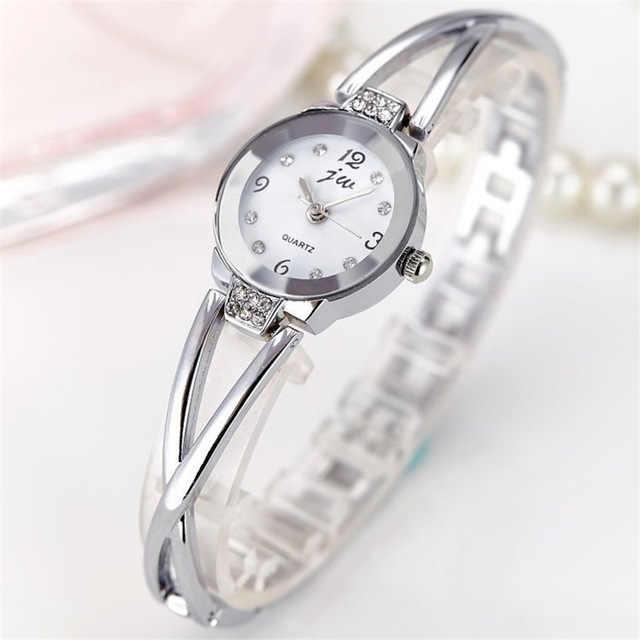 Sıcak bayanlar basit küçük yuvarlak kadran 3 renk bilezik bayan saatler 2019 üst marka günlük kuvars saat часы женские