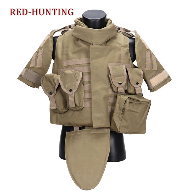 Tactical Vest OTV Combat Body Armor With Pouch Pad USMC Airsoft Molle Assault Plate Carrier CS