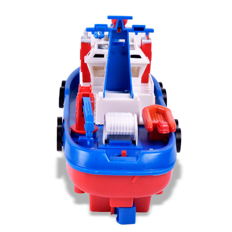 Abbyfrank Plastic Eletric Fireboat Ship Mini Model Toys Musical ...