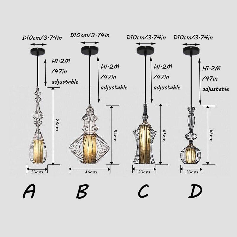 Vintage Suspension Lantern Pendant Light Tibet Black Iron Pendant Lamp Restaurant Light Retro Lighting Fixture For Cafe Bar Dining Room (31)