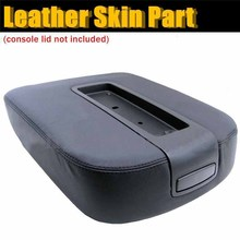 Mayitr Black Car Center Console Lid Armrest Cover Leather Protective Case for Chevy Suburban Silverado Tahoe Yukon GMC Sierra