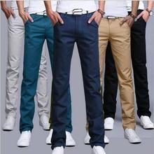 TANGYAXUAN, дизайн, повседневные мужские штаны, хлопок, тонкие, прямые брюки, модные, деловые, однотонные, хаки, черные, Мужские штаны, 28-38
