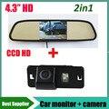Monitor + HD CCD câmera de visão traseira do carro para BMW 3 Series 5 Series X5 X1 X6 E39 E46 E53 E82 E88 E84 E90 E91 E92 E93 E60 E61
