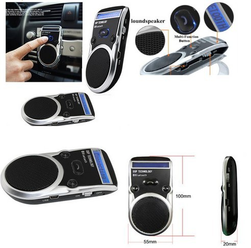 2016 new hot cellphone solar powered bluetooth hands free car kit speaker phone caller. Black Bedroom Furniture Sets. Home Design Ideas