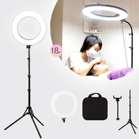 GSKAIWEN 18inch LED Beauty Light Eyebrow Tattoo Lamp Makeup Ring Light Dimmable Photography Studio Video Light For Camera/Photo