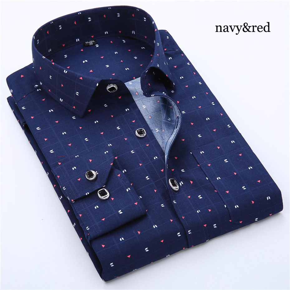 Zogaa Men Bussiness Shirt Long Sleeved Solid Floral Printing Plaid Casual Male Shirts Brand Clothing 10 Colors Dress Shirt Man in Dress Shirts from Men 39 s Clothing