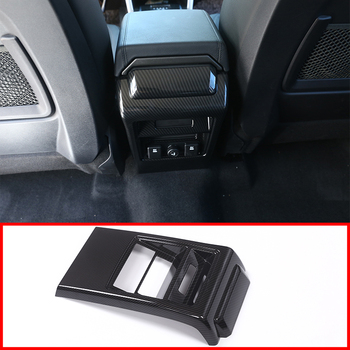 Carbon Fiber ABS Armrest Box Rear Row Kick-proof Cover Trim For Land Rover Discovery Sport 2015-2018 Car Accessories
