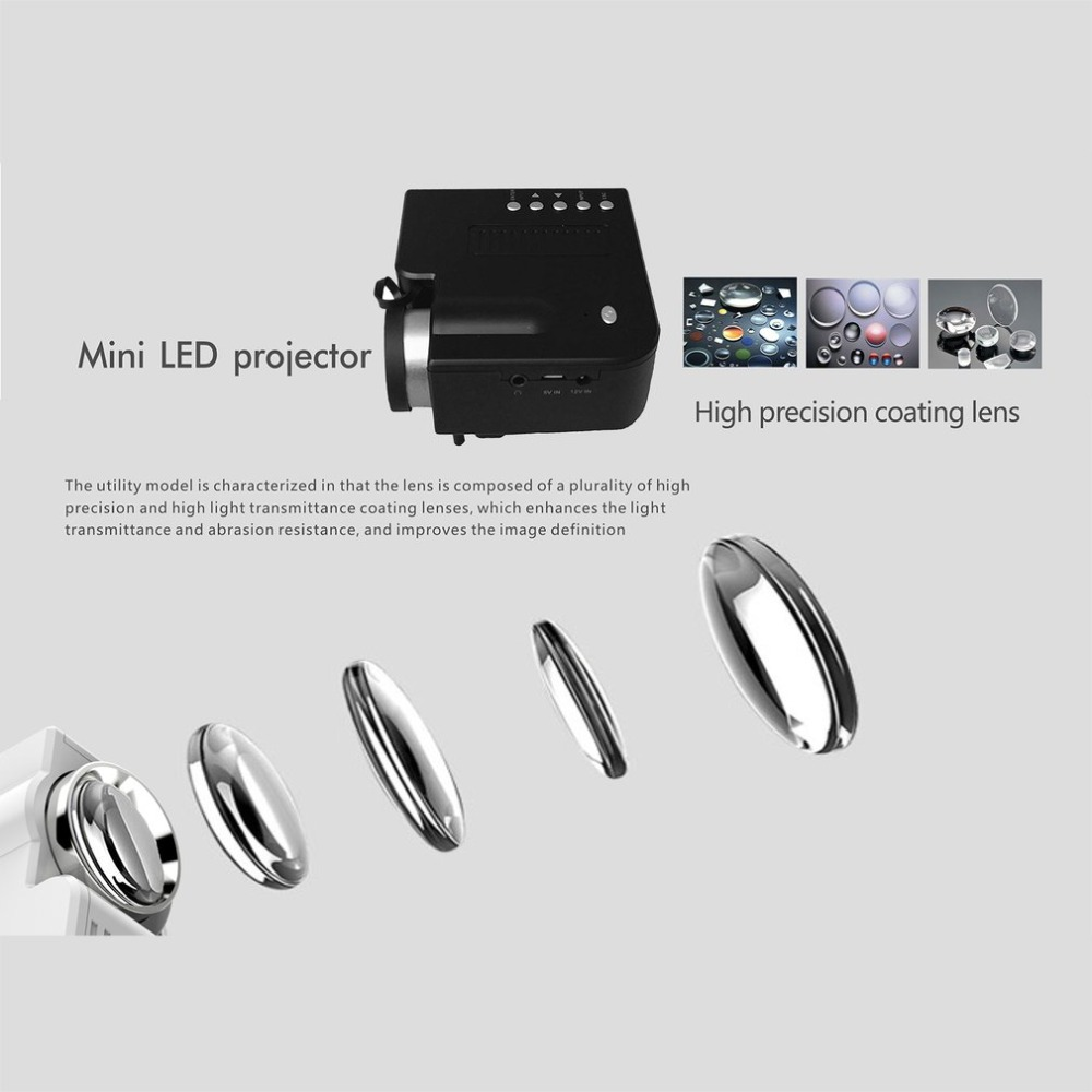 UC28B+ Home Projector Mini Miniature Portable 1080P HD Projection Mini LED Projector For Home Theater Entertainment sugeryy 1 pair car style matte black 3 color front center kidney racing grilles for bmw 3 series e90 e91 2009 2011 car grille