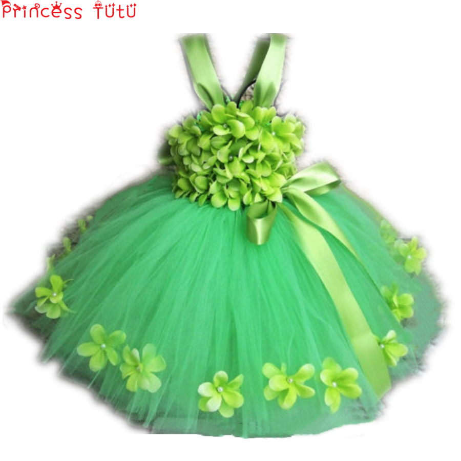 Green Flowers Girl Tutu Dress Princess Dress Puffy Tulle Birthday Wedding Party Costume for Kids Dresses For Girls Clothes w195Green Flowers Girl Tutu Dress Princess Dress Puffy Tulle Birthday Wedding Party Costume for Kids Dresses For Girls Clothes w195