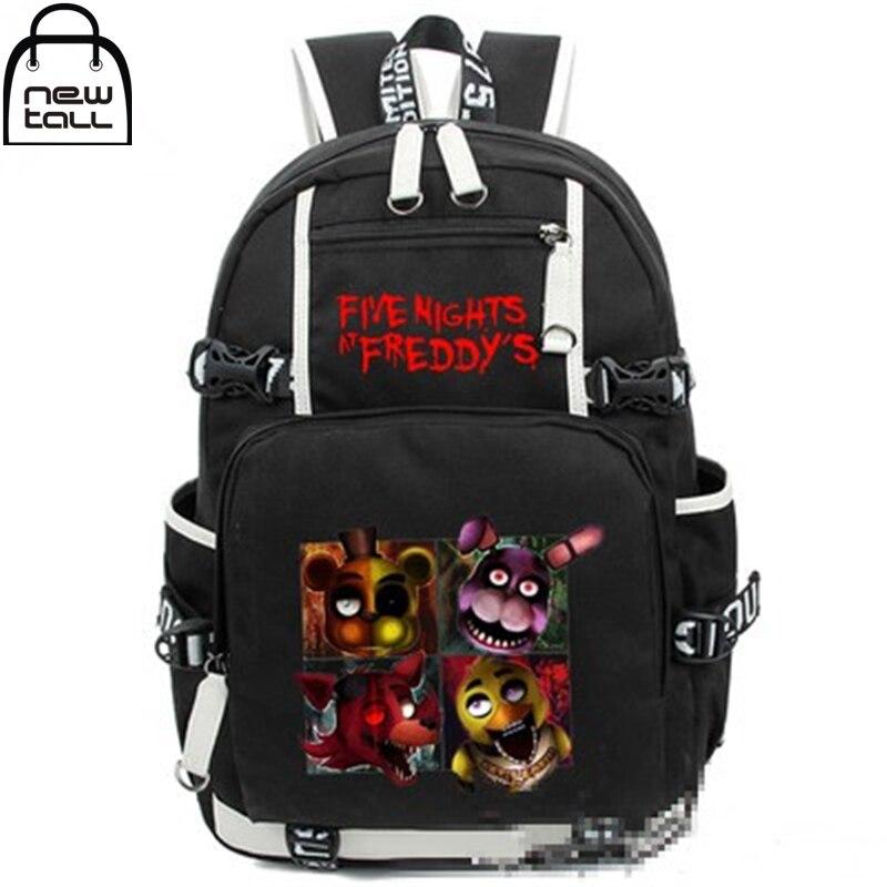 Newtal Five Nights At Freddy's Freddy Cartoon Backpack Man Chica Foxy Bonnie FNAF Shoulder School Nylon Travel Bag New Fashion цена 2017
