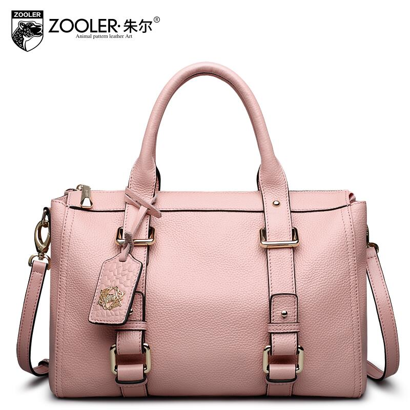 free delivery  Genuine Leather  Women bag  2017 new fashion handbag Leisure Shoulder Messenger Bag Boston package