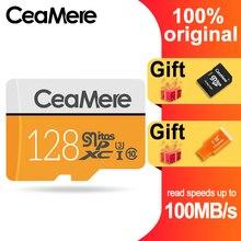 CeaMere Micro SD การ์ด 256 GB/128 GB/64 GB UHS 3 32 GB/16 GB/8 GB Class 10 UHS 1 4GB หน่วยความจำ Flash Microsd ฟรี Crad Reader