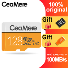 CeaMere מיקרו SD כרטיס 256 GB/128 GB/64 GB UHS 3 32 GB/16 GB/8 GB Class 10 UHS 1 4GB כרטיס זיכרון פלאש זיכרון Microsd משלוח Crad Reader