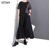 XITAO Europe 2018 New Summer Fashion Women Short Sleeve O Neck Long T Shirts Female