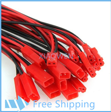 100 pcs   2 Pin JST  100mm Pitch 2.54mm Male and Female Wire Connector Plug Cable   for DIY RC  Battry Model
