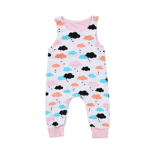 Top Baby Kids Girls Infant   Romper   Jumpsuit   Rompers   Print Clothes Outfits 0-24M