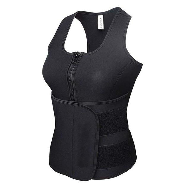 Neoprene Sauna Body Shaper Sweat Slimming Tops Zipper Adjustable Waist Shaper Vest Waist Trainer Shapewear Modeling belt 4