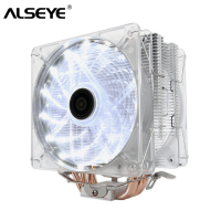 ALSEYE CPU Cooler 4 Heatpipe Heatsink with Dual 4pin PWM Fan CPU Cooler for LGA 1155,1156,1151,AM2,AM3,AM4