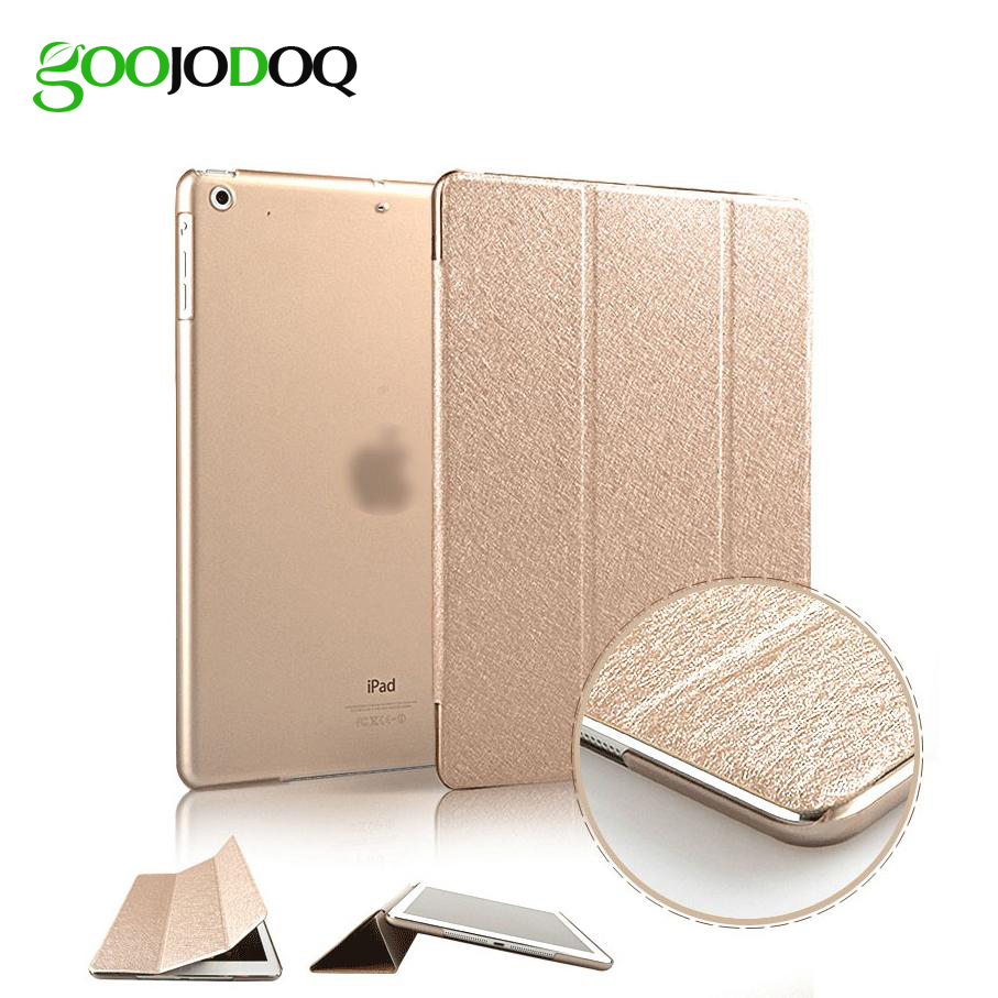 Slim Silk Smart Case for ipad Air 2  Air 1 Flip Ultra Thin PU Leather+Transparent PC Cover for Apple Ipad 5  6  Auto Sleep/Wake surehin nice smart leather case for apple ipad pro 12 9 cover case sleeve fit 1 2g 2015 2017 year thin magnetic transparent back