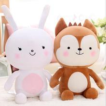 60 cm Nachkommen der Sonne Plüsch Spielzeug, Camouflage uniformen Fuchs Plüsch Und Kaninchen Plüschtiere 1 STÜCKE Stofftier Puppe Für geschenk