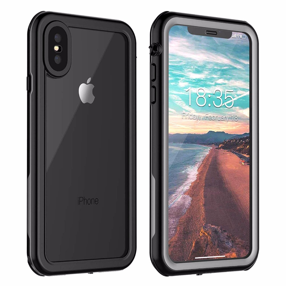 For iPhone Xs Max Waterproof case life water Shock Dirt Snow Proof Protection for iPhone Xs