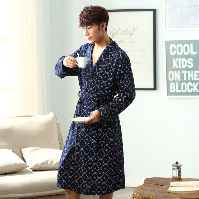 1656eecb1fb 2018 winter robe mens long sleeves bathrobe men regular sleeve bathrobes  sexy sleepwear house coat thickening kimono male