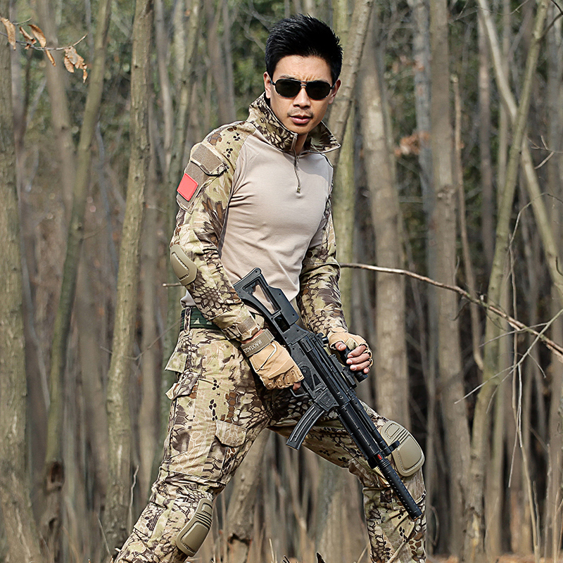 Tactical military clothing Hunting clothing CS suits Paintball army cargo combat suit Rapid assault exercito suit with knee pads airsoft adults cs field game skeleton warrior skull paintball mask