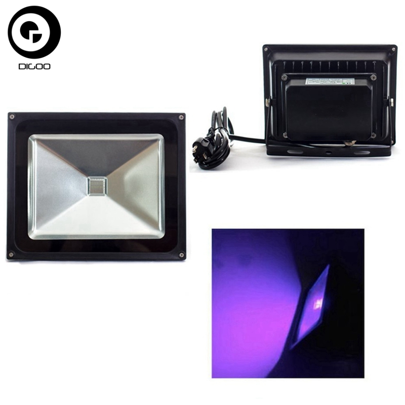 Digoo High Power 50W Ultra Violet UV LED Spotlight LED Flood <font><b>Light</b></font> IP65 Waterproof AC85-265V For Blacklight Fishing Aquarium