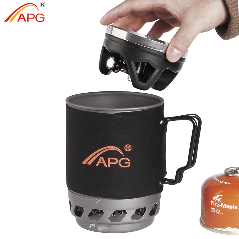 APG portable camping gas burners system and camping flueless gas stove cooking System apg 1100ml camping gas stove fires cooking system and portable gas burners