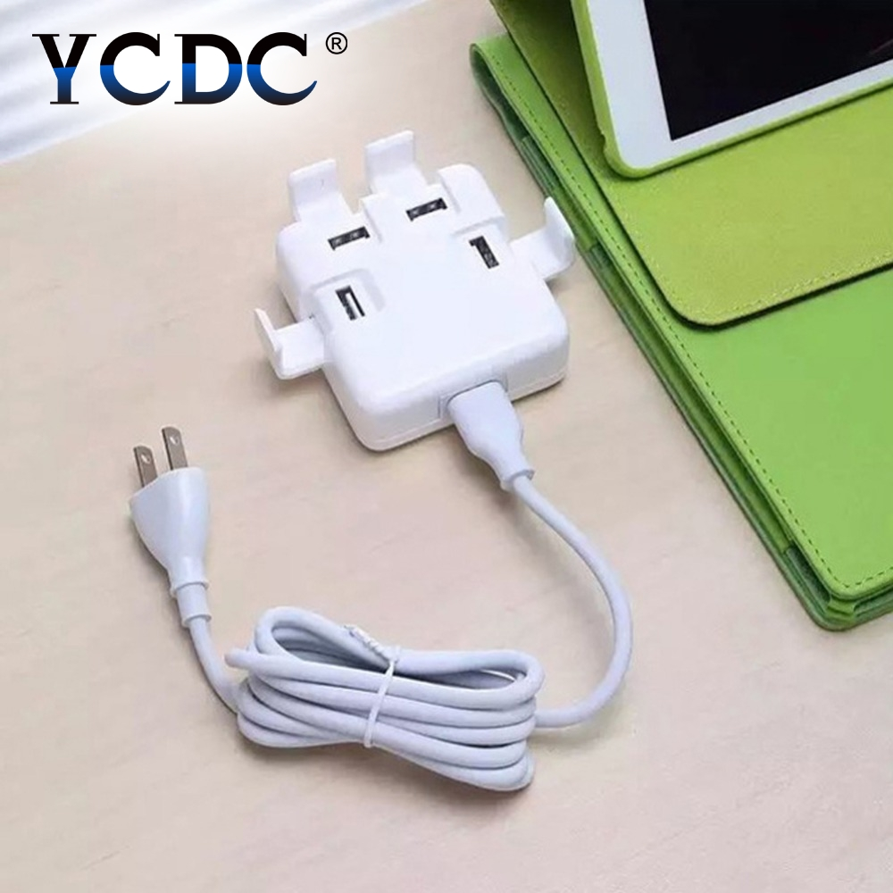 YCDC 20W 5V EU US UK Plug USB Wall socket with usb Moblie Phone Travel Charging Power Adapter for iPhone 7 6 6plus iPad Samsung