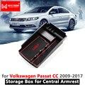 Контейнер для хранения подлокотника  органайзер для VW Passat CC  аксессуары для Volkswagen 2009 2010 2011 2012 2013 2014 2015 2016