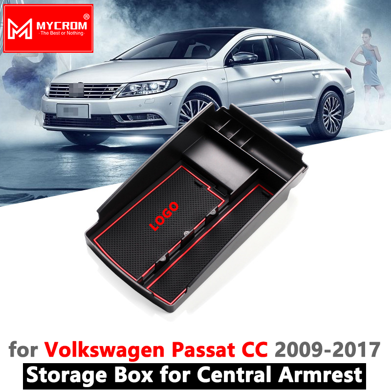 Armrest Box Storage Stowing Tidying for VW Passat CC Organizer Accessories Volkswagen 2009 2010 2011 2012 2013 2014 2015 2016 Stowing Tidying     - title=