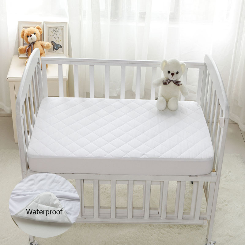 wholesale dealer 88488 63b08 Waterproof Mattress Protector for Baby, Hypoallergenic Fitted Sheet Quilted  Comfy Crib Toddler Mattress Cover Size 28x52x6 inch
