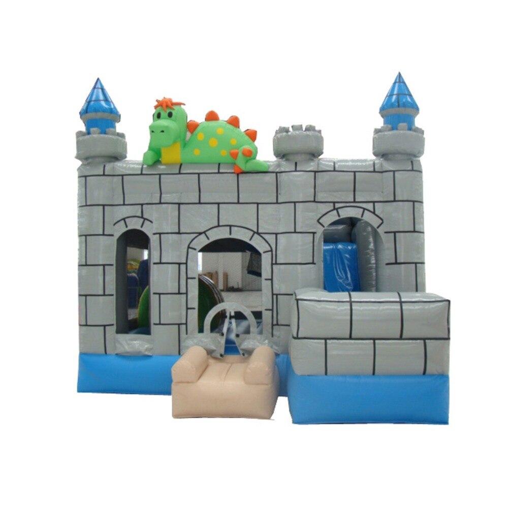 Commercial Jumping House Inflatable Dinosaur Bouncer Castle Slide