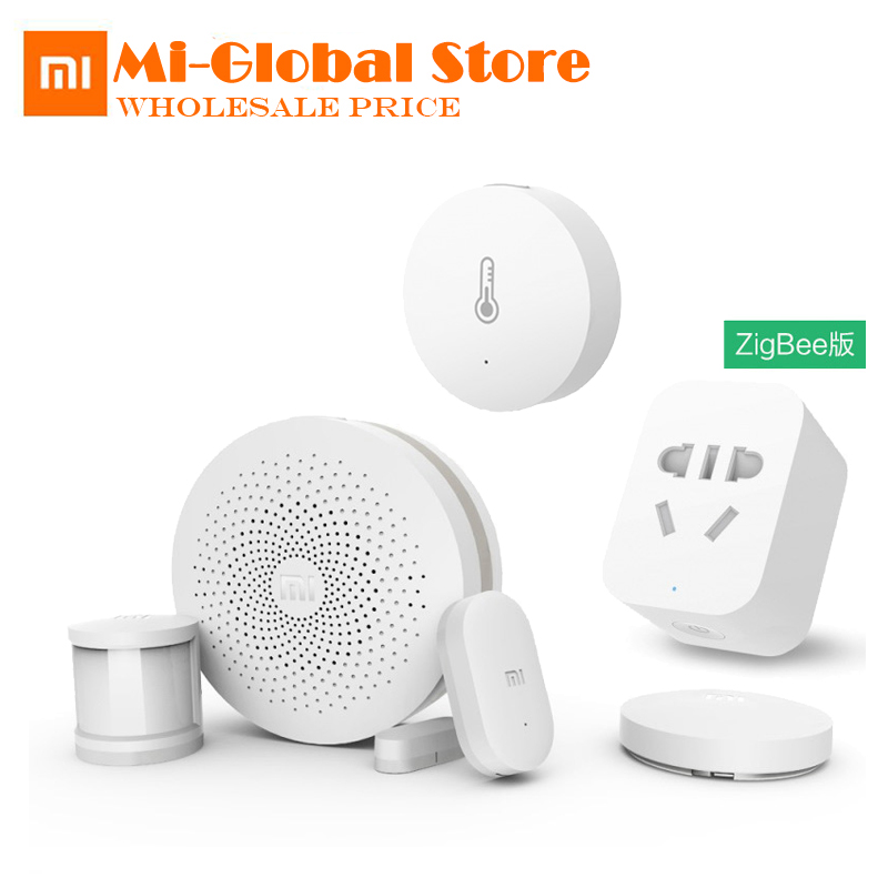 Xiaomi Smart Home Kits Gateway,Door Window Sensor,Human Body Sensor ,Wireless Switch, Humidity ,Zigbee Socket Multifunctional original xiaomi smart home sets gateway 2 door window sensor human body sensor wireless switch multifunctional smart devices kit