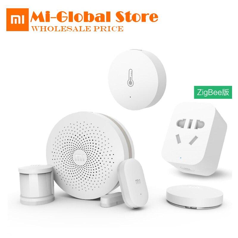 Xiaomi Smart Home Kits Passerelle, Porte Fenêtre Capteur, Corps Humain Capteur, Commutateur sans fil, humidité, Zigbee Prise Multifonctionnel