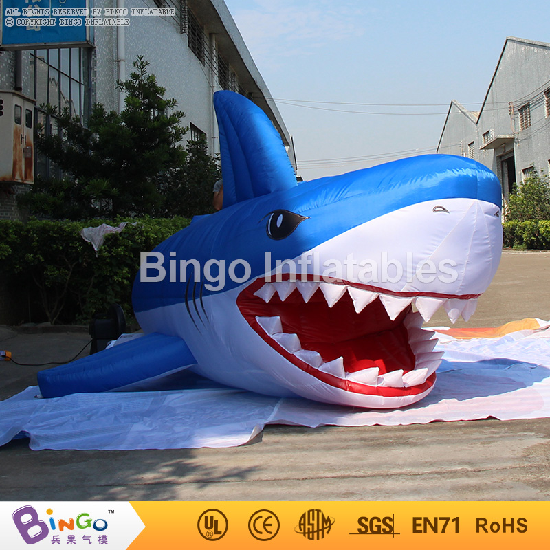цены Customized 3 Meters long giant inflatable shark high quality decorative blow up shark replica for sale toys