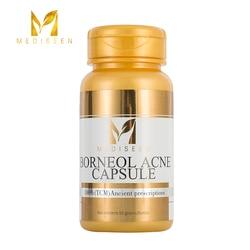 Cápsula da acne do borneol medieen, cura a secreção excessiva do sebo, bloqueio dos dutos sebáceos na inflamação dos folículos capilares, 50 pces