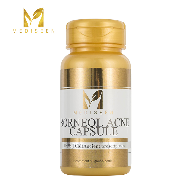 Mediseen Borneol Acne Capsule, Cure Excessive Sebum Secretion, Blockage Of Sebaceous Ducts In Hair Follicles Inflammation, 50pcs